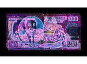 David LaChapelle, Negative Currency: One ThousandNorth Korean Won Used as Negative, 2016