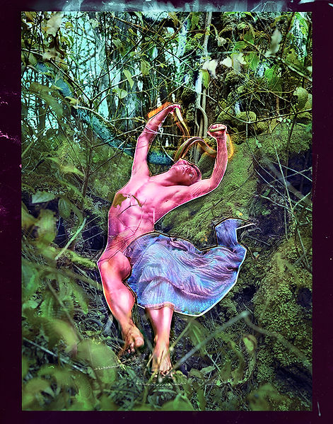 David LaChapelle, Guilt Is a Serpent to Be Cast Out, 2015