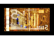 David LaChapelle, Negative Currency: Five Euro Used As Negative, 2017