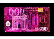 David LaChapelle, Negative Currency: One Hundred Euro Used As Negative, 2017