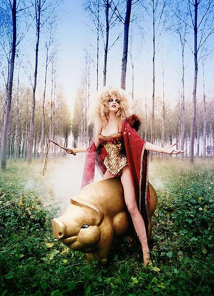 David LaChapelle, Truffle Hunt: Hollyanne, 1996