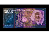 David LaChapelle, Negative Currency: 50000 Lira Used As Negative, 2010