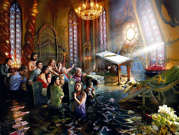 David LaChapelle, After the Deluge: Cathedral, 2007