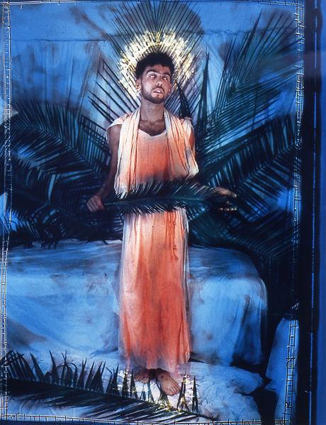 David LaChapele, 56 Bleeker Gallery: John the Baptist Receiving Instuctions, 1985