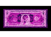 David LaChapelle, Negative Currency: One Dollar Bill Used As Negative, 1990-2017