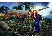 David LaChapelle, Young Girls With a Dinosaur, 2004