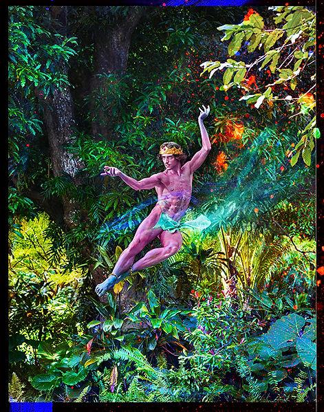 David Lachapelle, In Awe you Glide Floating Upward, 2015