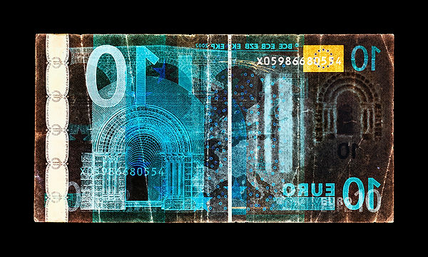 David LaChapelle, Negative Currency: Ten Euro Used As Negative, 1990-2017
