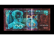 David LaChapelle, Negative Currency: 100 Yuan Used As Negative, 1990-2017