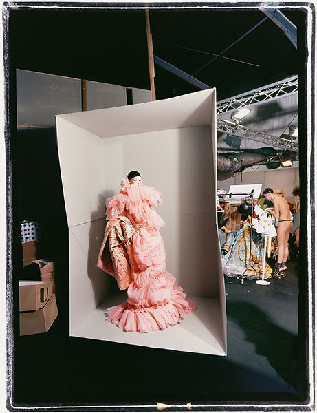 David LaChapelle, Couture Model in Cardboard Box, 2003