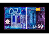 David LaChapelle, Negative Currency: Fifty Euro Used As Negative, 2017
