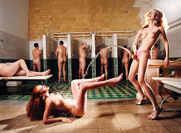 David LaChapelle, Russian Bath House, Moscow, Crystal Arc, 2003