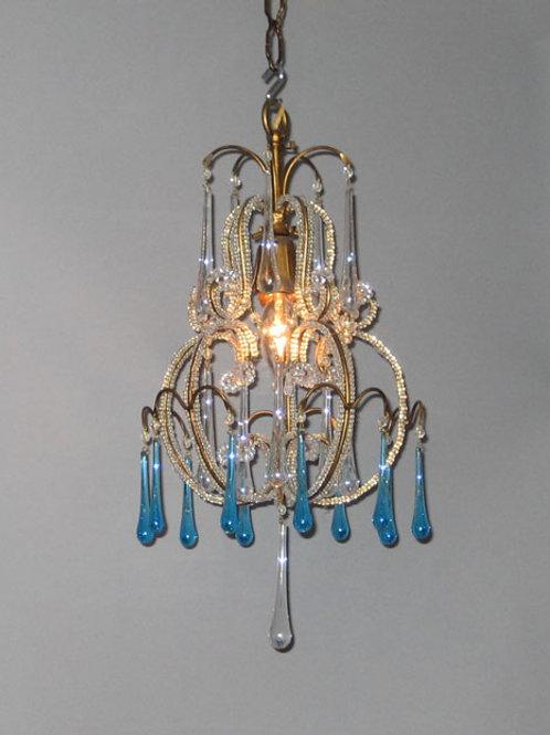 Chandelier - Blue Crystal