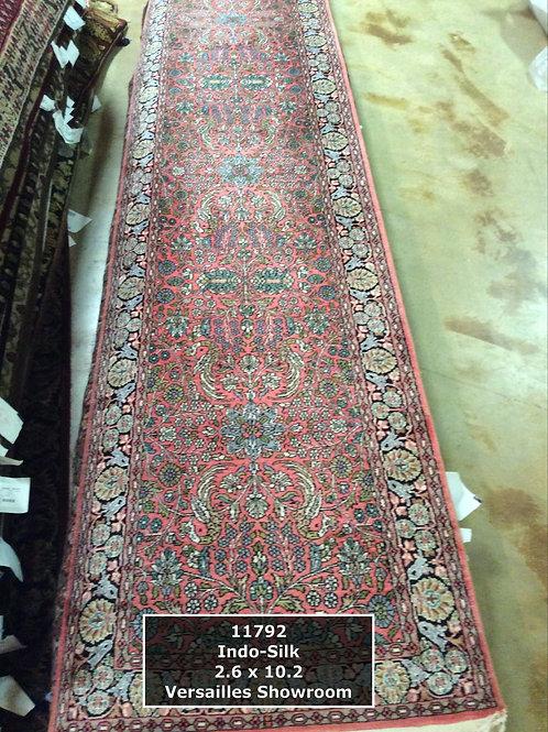 Indo-Silk Persian Rug - Runner - 10'
