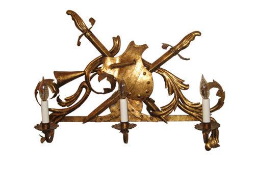 Sconce - Gold Metal
