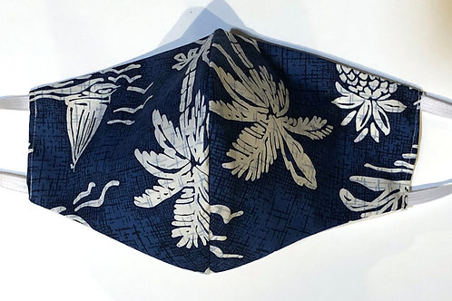 Classic Blue Palms & Pinapple