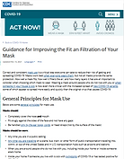 Guidance for Improving the Fit an Filtra