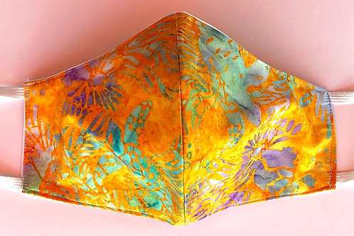 Batik Light Orange-Powder Blue