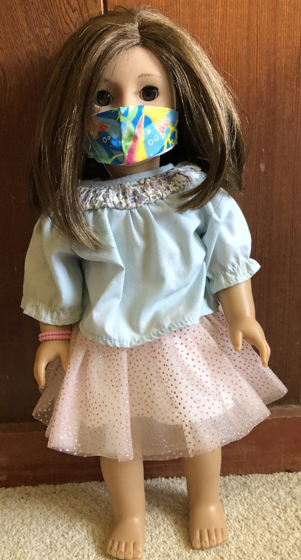 American Girl Doll w Mermaid Mask