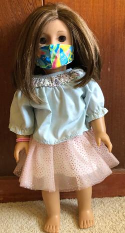 American Girl Doll w Mermaid Mask