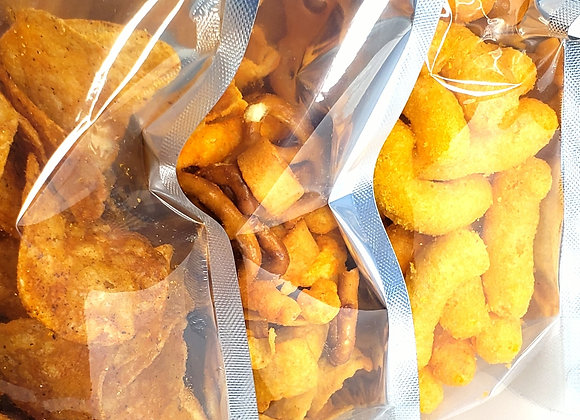 8 Various THC Infused Chips(Cheesy Poofs|Doritios|Party Mix|Hickory Stix|Corn C)