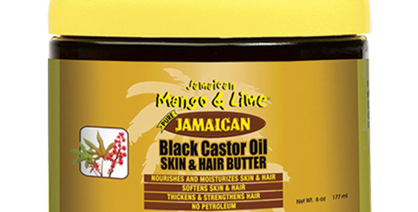 Jamaican Mango & Lime Black Castor Oil Skin and Hair Butter 177 ml 6 oz