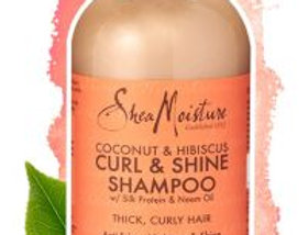 SheaMoisture Hair Coconut Hibiscus Curl Shampoo 13 oz