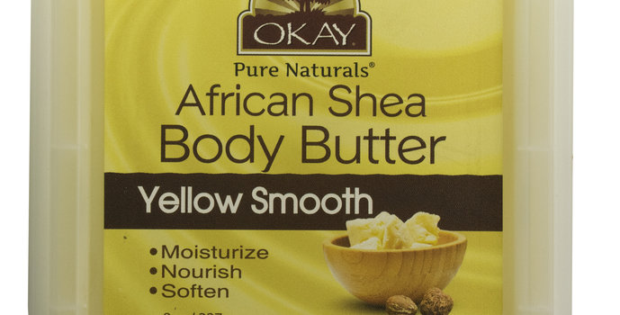 Okay Shea Butter Yellow Smooth Deep Moisturizing 8oz