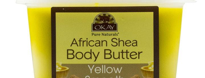 Okay Shea Butter Yellow Smooth Deep Moisturizing 16oz