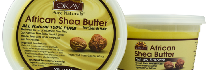Okay Shea Butter Jar Yellow 13oz