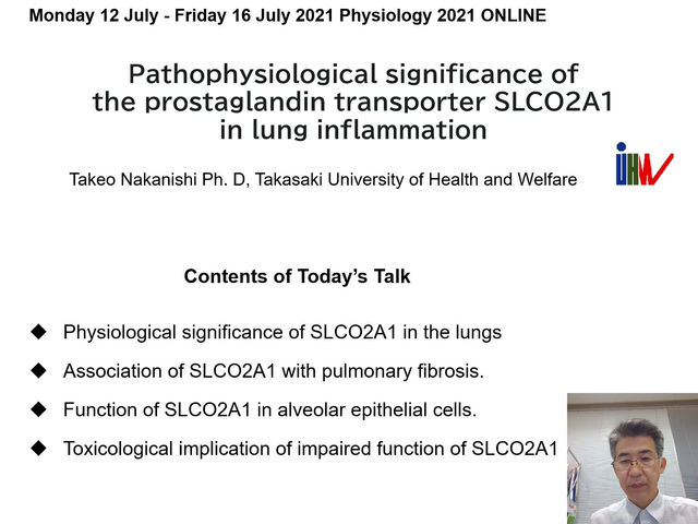 Research Presented in Physiology 2021