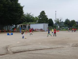 5年生 中根FCさんとの合同練習