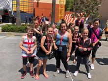 Junior dancers ready for their Disney workshop