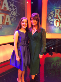 Aimee at RTE studios with Síle Seoige