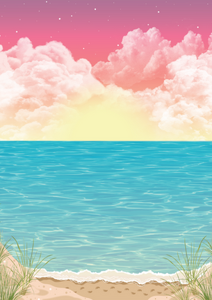 Lake Michigan Sunset Mural