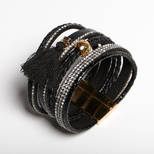 Black Layered Bracelet
