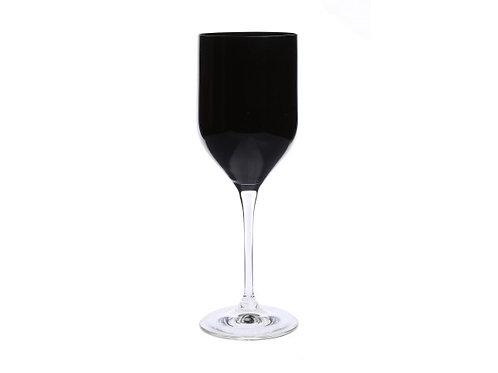 Elegant Black Water Glass -  Set of Six