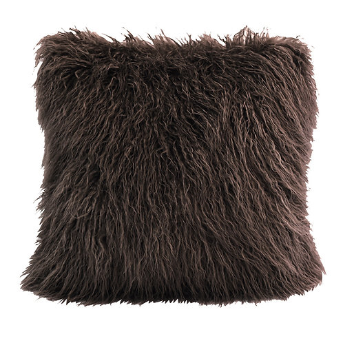 Brown Faux Fur Pillow Covers