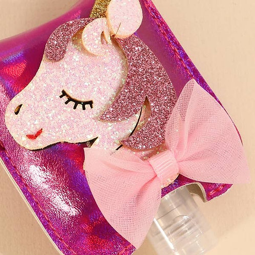 Unicorn Sanitizer Keychain/Holder