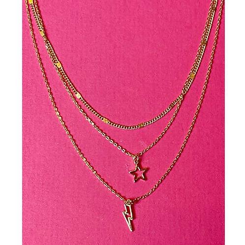 Stars & Lightening Layered Necklace