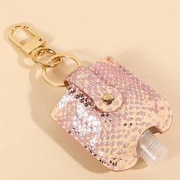 Pink Snake Skin Sanitizer Holder.jpg