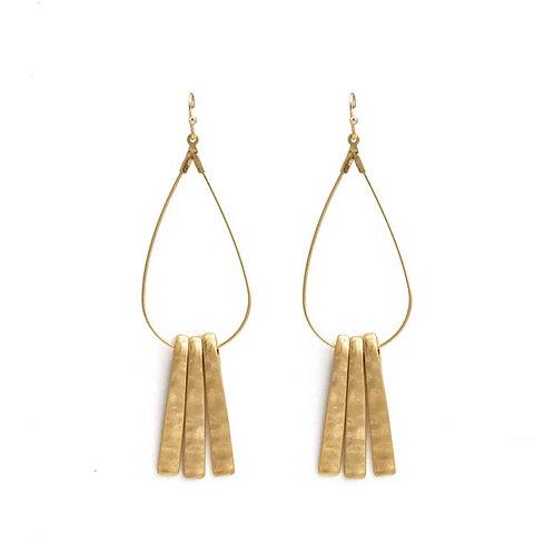 Brushed Gold Teardrop Earrings