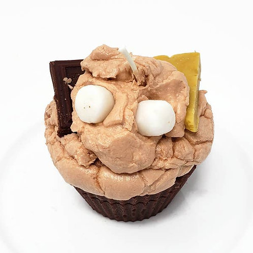 S'more Cupcake Candle