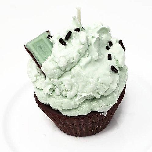 Chocolate Mint Cupcake Candle