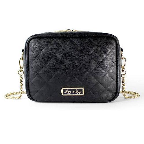 Black Double Take Crossbody Diaper Bag