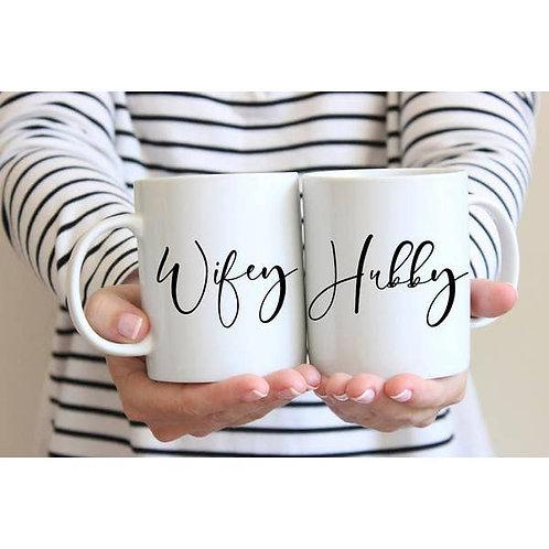 Husband Wifey Mug Set