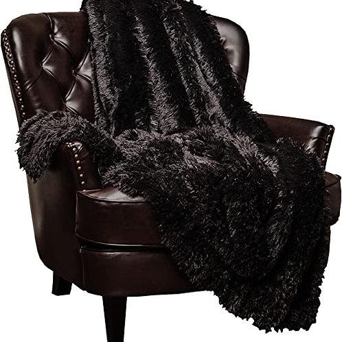 Shaggy Faux Fur Throw