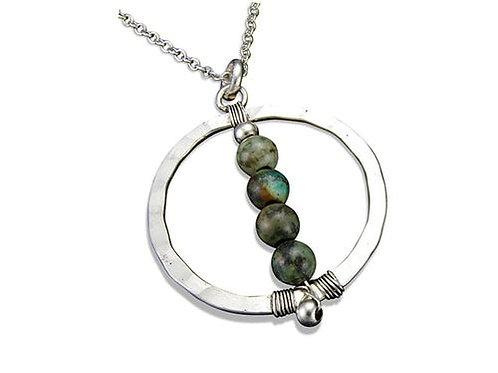 Jasper Globe Necklace