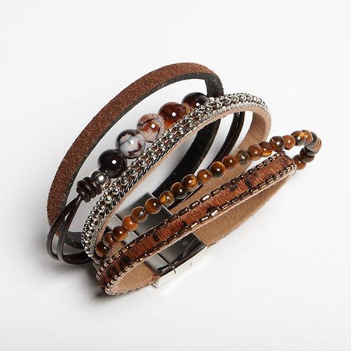 Brown Layered Bracelet