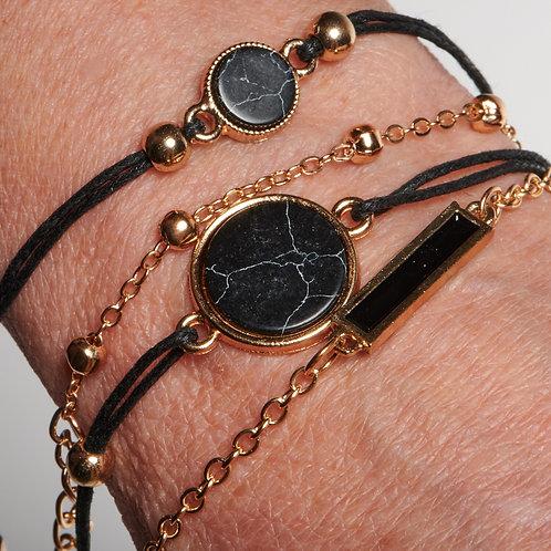 Four Strand Black Bracelet